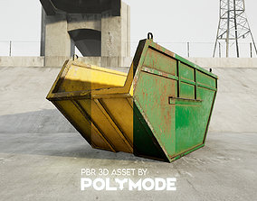 Low poly Industrial Dumpster 01 PBR Game-ready 3D model
