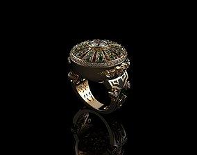 engagement Mens Gemstone Rings Men 3D printable model