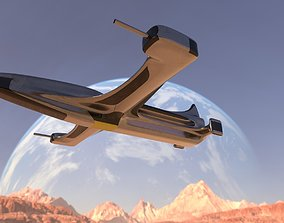 aircraft Spaceship 3D model game-ready