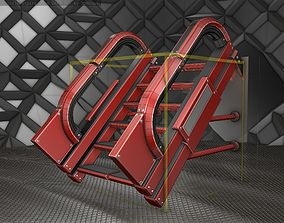 Sci-Fi Stairs - 1 - Red Version 3D model