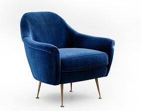 West Elm Phoebe armchair 3D