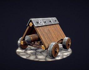 Battering ram 3D model game-ready PBR