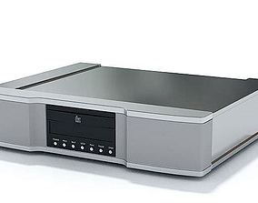 Grey Speaker With Digital Controls 3D model
