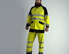 realistic 3D Scan Man Worker Safety 008
