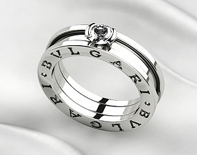 Bvlgari Zero Gold Ring 3D print model