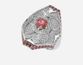 ring with stones 3D print model diamant