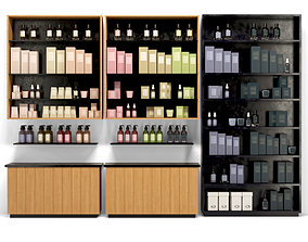 Showcase with cosmetics 3 3D