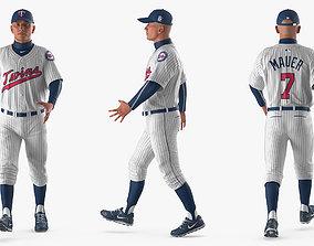 Baseball Player Rigged Twins 2 3D model