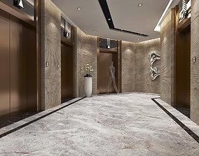 3D model Modern Hotel Elevator Hall