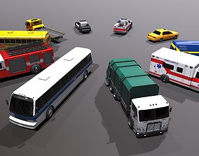 Generic civil service vehicles pack 3D model