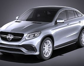 3D Mercedes-Benz GLE63 AMG Coupe 2017 VRAY