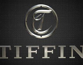 3D model tiffin logo