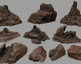 rock set 3D model VR / AR ready
