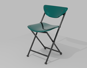 3D model low-poly Folding Chair