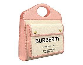 Burberry Pocket Bag Pink 3D asset