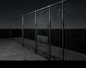 Modern Fence Low poly Game ready UE4 3D asset