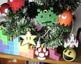 3D print model CHRISTMAS TREE DECORATION - RETRO GAME