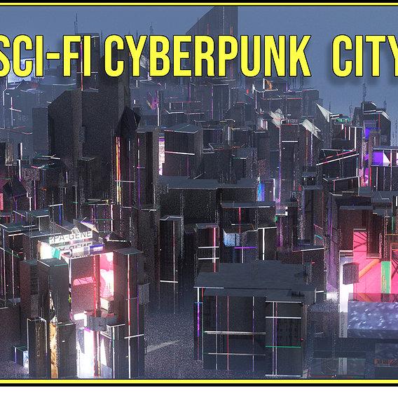 Sci Fi Cyberpunk City