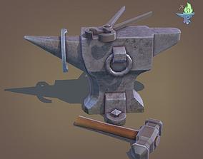 Blacksmith Anvil Set 3D asset
