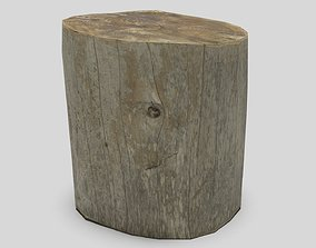 3D asset game-ready Tree Stump