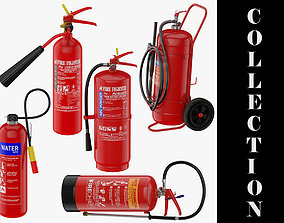 5 Fire Extinguishers Collection 3D