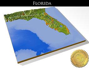 Florida High resolution 3D relief maps