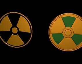 3D model Symbols of radiation