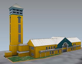 Harbor Control Tower Nassau Bahamas 3D asset