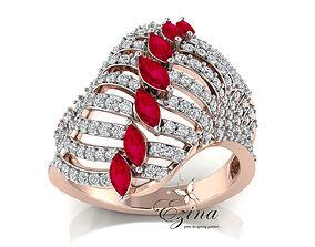Diamond ring 3D print model shining