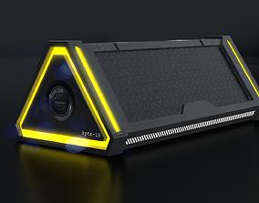 3D asset game-ready Sci Fi Box v4