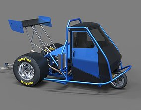3D Ape car dragster