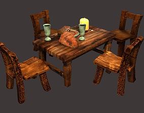 3D model Medieval - Fantasy Tavern Props