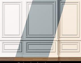 3D model Wall molding 7 Boiserie classic panels