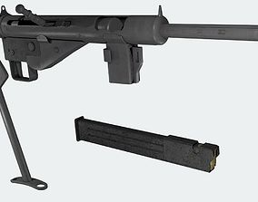 MP3008 WWII German Sub Machine Gun Game-Ready 3D model