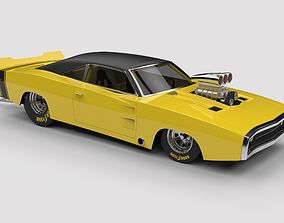 Dragster Dodge Charger 1970 3D model