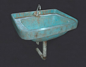Sink dirty 3D model game-ready