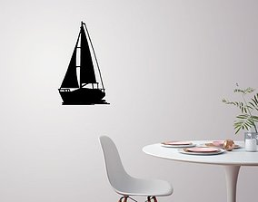 3D printable model Sailing boat for wall decoration 4