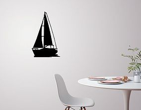 Sailing boat for wall decoration 3D print model