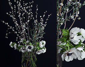 Anemones and branches 3D