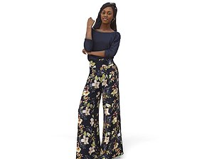 Woman with Colourful Pants CWom0340-HD2-O01P01-S 3D model