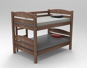 Bunk Bed 3D Model twin