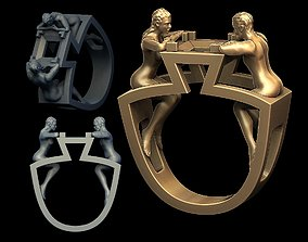 Couple ring woman 3D print model