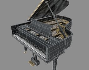 3D model VR / AR ready Grand Piano