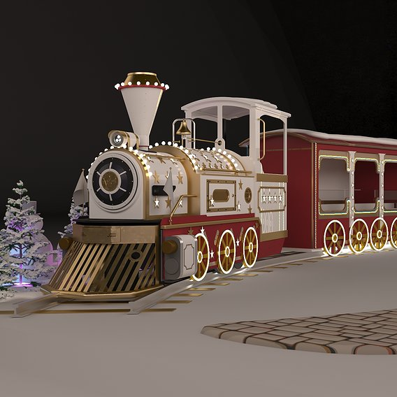 Christmas Train Decor
