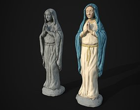 3D model Saint Mary Statue