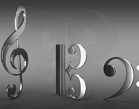 3D Musical clefs