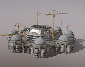3D model Cathedral Building Baghdad Rahman Mosque