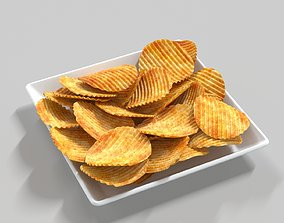 Potato Chips 3D model fried