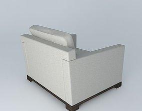 Liaigre Elume Lounge Chair 3D