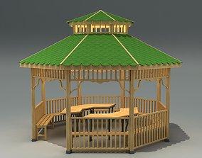 Outdoor Garden Gazebo Model game-ready